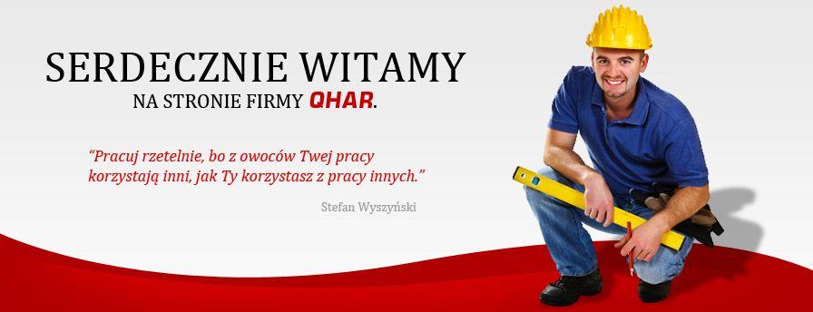 Serdecznie witamy na stronie firmy QHAR