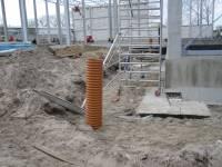 wykonywanie odwodnienia terenu wokół hali produkcyjnej,